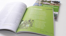 Permaculture book cover and spread
