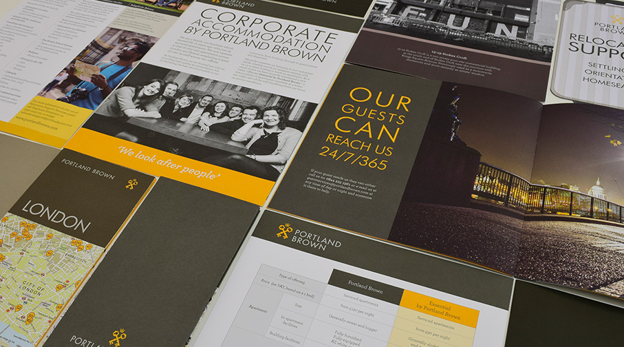 Portland Brown brochures and mailers
