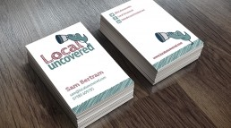 Local Uncovered business cards
